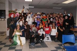 Kone employees' entry into Walkingspree 2010 Halloween contest